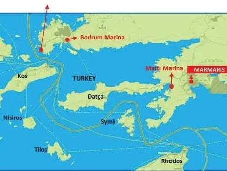 Marmaris Bozburun Koyunda Denize Sıfır 2600 M2 Yatırım İçin Uygun Arsa
